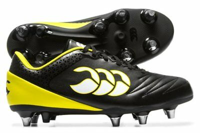 Canterbury Stampede 2.0 SG Wide Fit  Rugby Boots Black Yellow White E22424-989