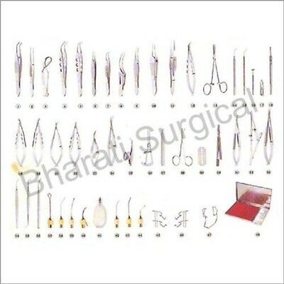 SS Ophthalmic Cataract Eye Surgery Set Box Instruments forceps Sets 47 Pieces SS