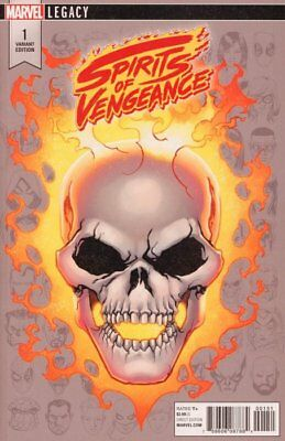 SPIRITS OF VENGEANCE ISSUE 1 - MIKE McKONE 1:10 HEADSHOT VARIANT - MARVEL LEGACY
