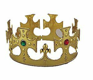 Gold Adjustable Plastic King's Crown