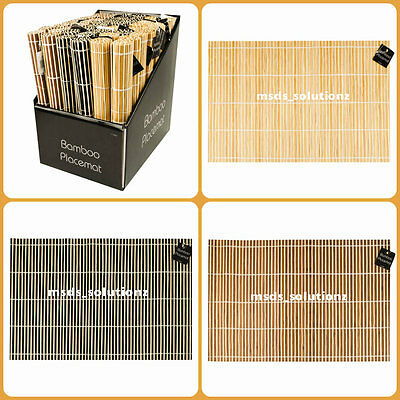 Bamboo Table~Kitchen~Dinning Serving Placemats Roll Up Wood Mat Sushi Oriental