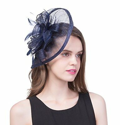 91f3a792b97 Zivyes Women Tea Party Headband Derby Fascinator Hat Hair Clip with Mesh and