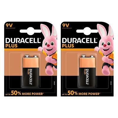 2 x Duracell Plus Power Alkaline Smoke Alarm Battery Type 9V - LR22 MN1604 6LR61