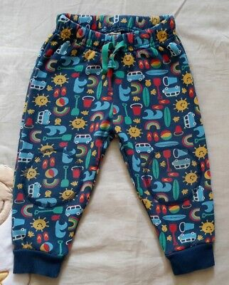 Frugi kneepatch snuggle crawlers, 12-18 months, road trip, organic cotton