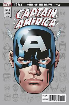 CAPTAIN AMERICA ISSUE 695 - MIKE McKONE 1:10 HEADSHOT VARIANT - MARVEL LEGACY