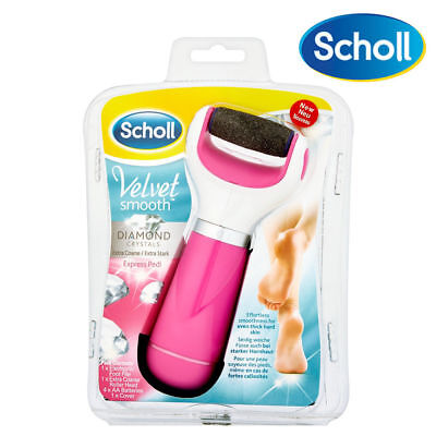 Scholl Express Pedi Pink Velvet Smooth Diamond Crystals Foot Hard Skin Remover