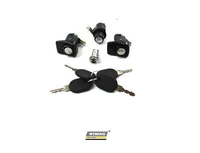 85/104 Kit Serrature Porte Cofano Cilindretto + 4 chiavi Fiat Panda 141 2003 <