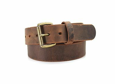 American Bison Distressed Leather Casual Belt USA Buffalo Herd Leather