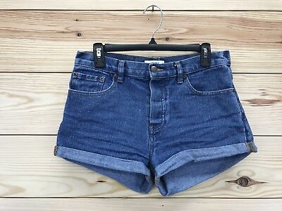 2fa711a42a Forever 21 Jean Shorts Size 27 Denim Medium Wash Cuffed Button Fly Booty B77