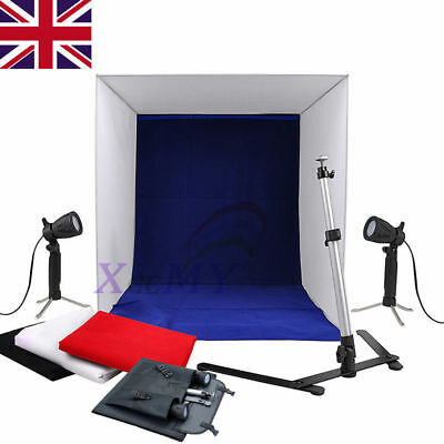 Portable Photo Studio Lighting Cube Tent Kit 40CM Soft Light Box & 4 Backgrounds