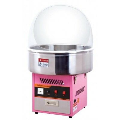Candy floss machine and metal bowl and cover +2kg candy floss sugar + 100 stick,