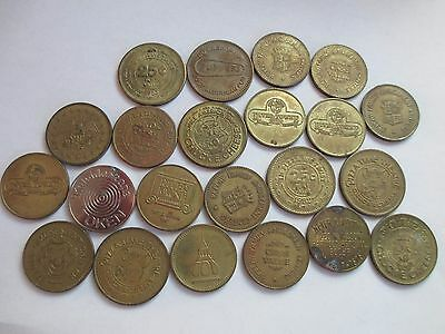 VIDEO GAME ARCADE TOKENS 22 TOTAL 1970'S-80'S  Baltimore brass