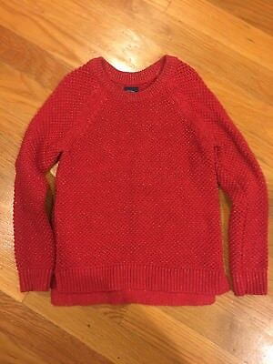 Gap Girls Size 5 Red Holiday Sparkle Sweater Great Condition