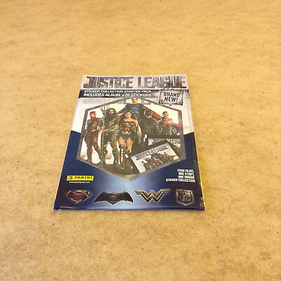 Panini Justice League Movie Album Sticker Starter Pack Album 26 Stickers Poster