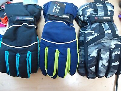 Swiss Tech Performance Accessories Boys Gloves Choose Color