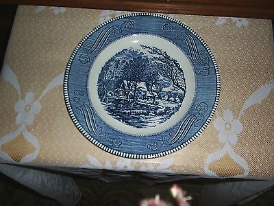 Currier and Ives dinner plate