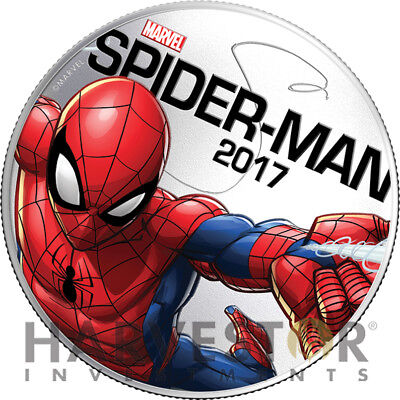 2017 Marvel Light-Up Coin Series - Spider-Man - Fiji - Second In Series