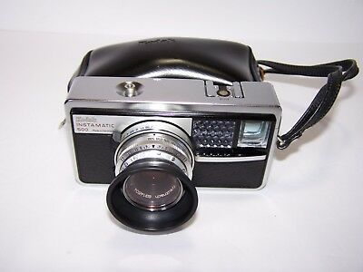 KODAK INSTAMATIC 500 CAMERA 126 Film Cartridge w/Case and Strap MADE IN GERMANY