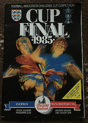 1985 FA CUP FINAL : Everton v Manchester United 18th May 1985