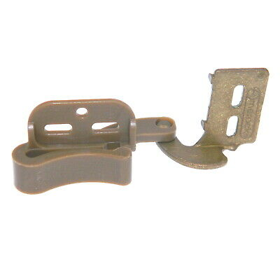 "Pair of Amerock BP2606-BB Burnished Brass 1/2"" Overlay Self-Latch Knife Hinges"