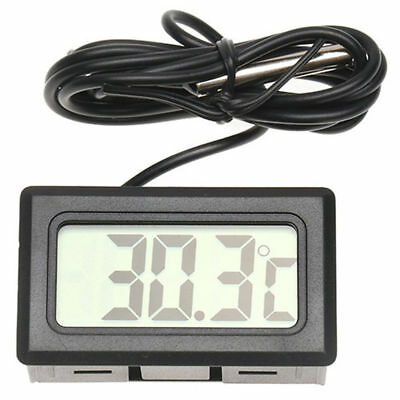 LCD Digital Display Thermometer Temperature Meter With Probe Home Indoor Outdoor