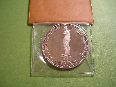 1970 Costa Rica .999 Silver Proof 20 Colones