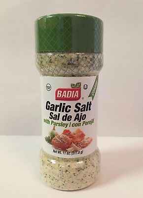 11oz Bottle-Garlic Salt/with/Parsley/Coarse/Seasoning/Sal de Ajo/y/Perejil