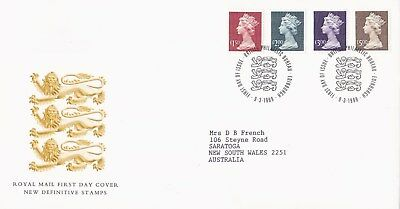 Great Britain 1999 High Value Definitives FDC