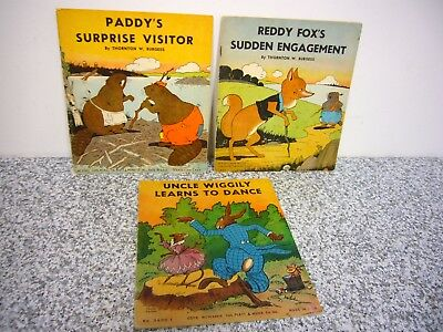 4 Books Reddy Fox's Sudden Engagement Uncle Wiggily Paddy's Thornton W. Burgess