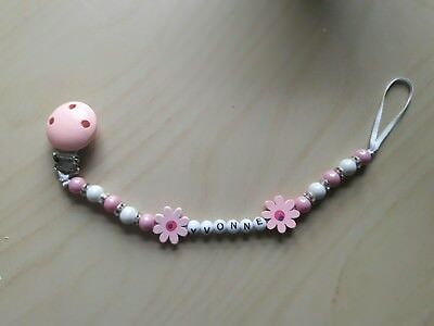 *** Dummy clip for boys and girls personalised baby shower gift pearls clip ***