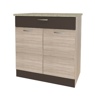 neu k chenschrank sevilla 80 cm k chenm bel k chenunterschrank schrank eur 115 00 picclick de. Black Bedroom Furniture Sets. Home Design Ideas