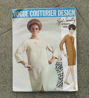 Original  1960s  Vogue Couturier Original Pattern Dress by Sybil Connolly 34