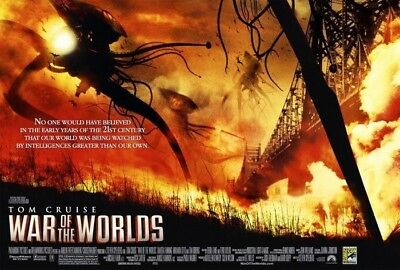 WAR OF THE WORLDS MOVIE POSTER 1 Sided COMIC-CON ORIGINAL 40X27