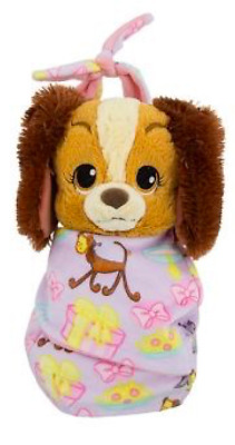 "Disney Parks Baby Lady in a Blanket Pouch Plush NWT 10"" Lady & The Tramp"