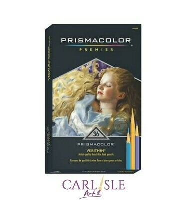 Prismacolor Verithin Colored Pencils, Set of 36 Assorted Colors