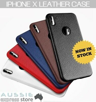 iPhone X 10 Case Slim Thin Flexible Leather Rubber Protector Cover for Apple