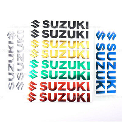 3D Motorcycle Reflective Fuel Tank Side Fairing Fender Decal Sticker For Suzuki