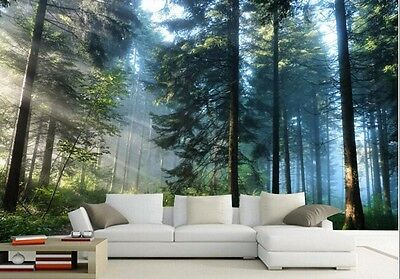 Beau Custom Nature Forest Trees Wallpaper Mural Bedroom Living Room Office Home  Decor