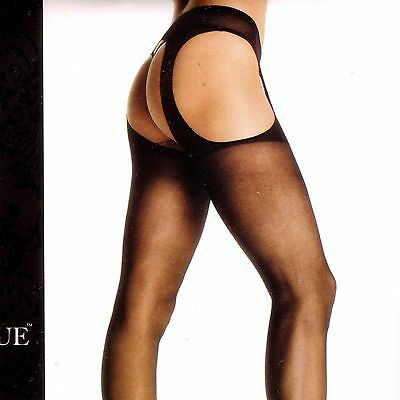 Leg Avenue One Size Open Crotch Crotchless Sheer Garter Suspender Pantyhose
