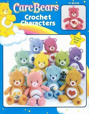 Care Bears,10 Characters, Crochet Pattern. Please read the description provided.