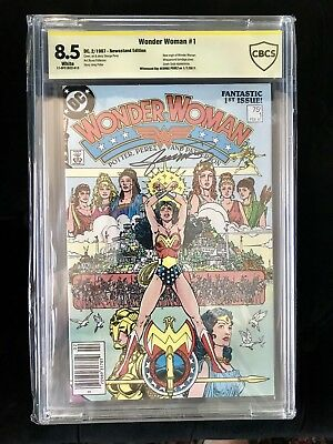 Wonder Woman #1 (Feb 1987, DC) Signed by George Perez