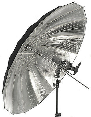 "Flash Umbrella Silver/Black Parabolic Type 42/47"" 105/120cm (diameter/arc)"
