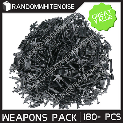 180+pcs Brickarms Weapons for Minifigs Blocks Toy Gun Military SWAT Army Police