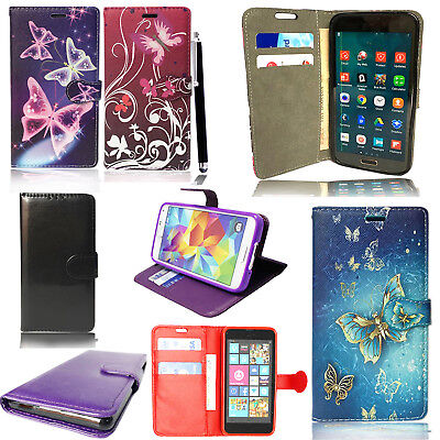 Luxury Magnetic Flip Cover Stand Wallet Leather Case For Various Mobile Phones