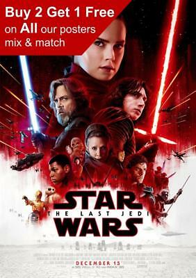 Star Wars The Last Jedi Rey Movie Poster A5 A4 A3 A2 A1