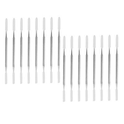 16pcs Stainless Dental Laboratory Cement Spatula Double Ended Mixing Scraper