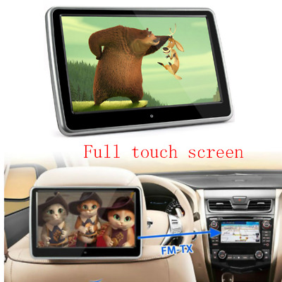 "10.1"" Touch Screen HD Universal Car Autos Headrest Monitor DVD Player HDMI Port"