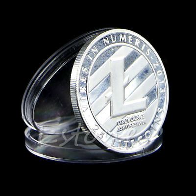 25 Litecoin Coins Silver Plated Vires in Numeris Commemorative Coin Collection