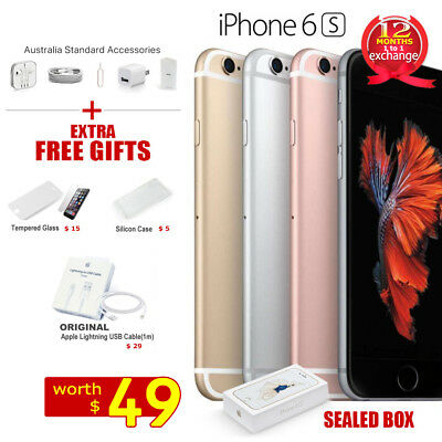 New in Sealed Box APPLE iPhone 6S 16GB 64GB 128GB 1Yr Wty Factory Unlocked Gifts
