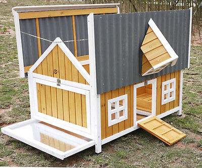 Large Chicken Coop Hen House Poultry Ark Rabbit Hutch Run New Large Duck Plastic